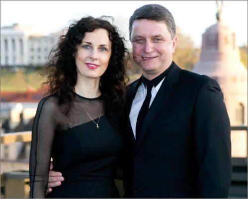 Jolita Kajėnienė su vyru