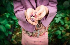 vaikas su pupelėm