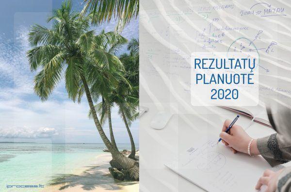 Rezultatų planuotė 2020 viršelis versli mama
